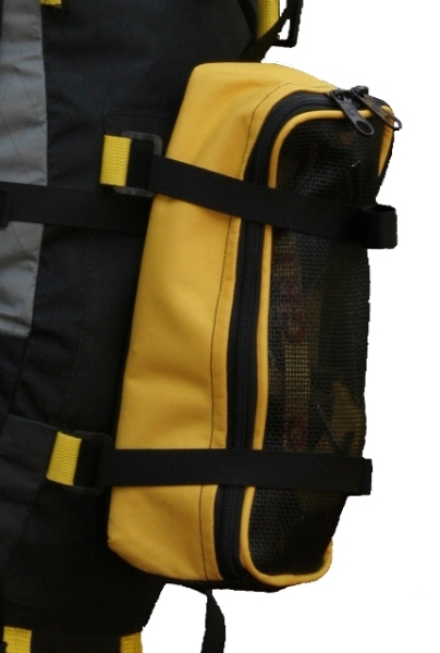 Omega Pack with attached crampon pouch